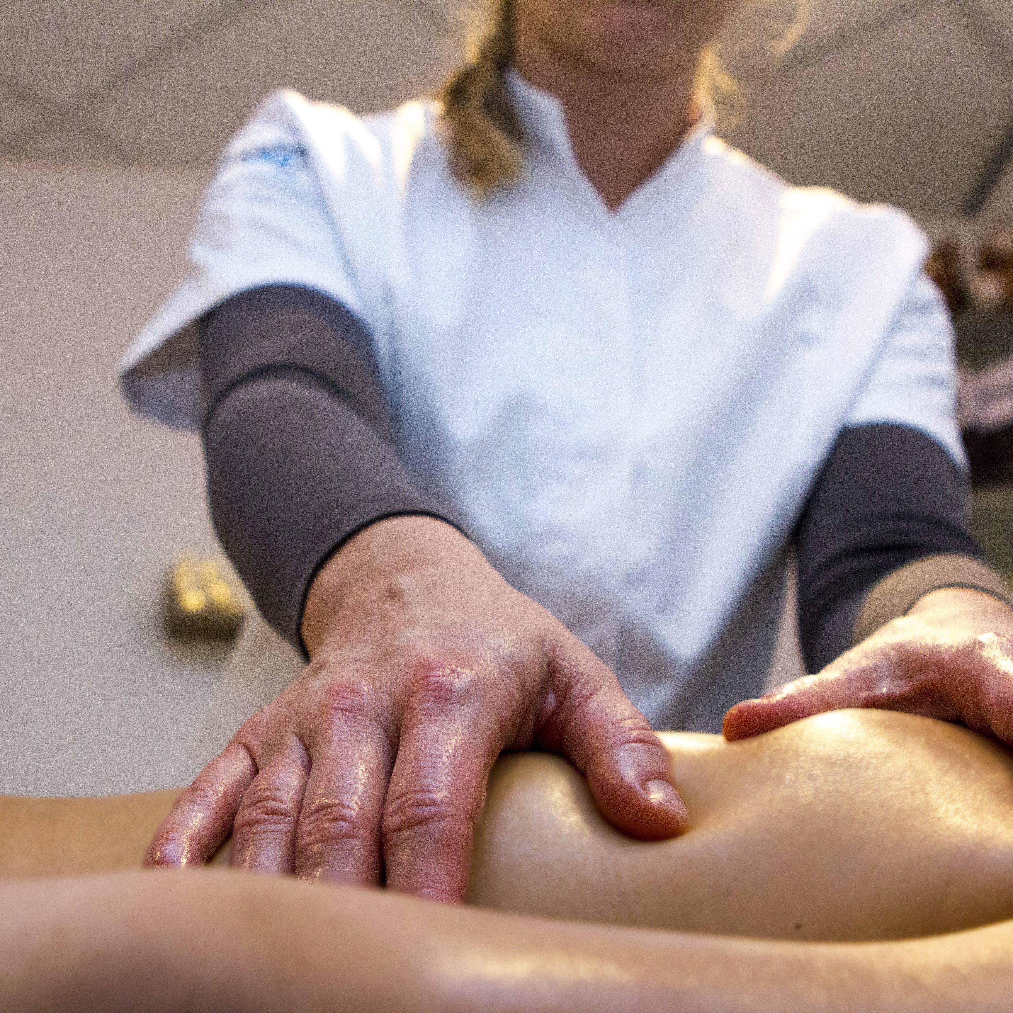 foto van lichaamsmassage / ontspanningsmassage
